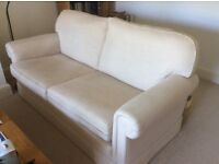 2 matching 2-seater sofas in neutral linen