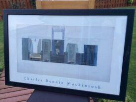 Framed Charles Rennie Mackintosh prints