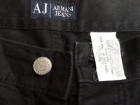 Black Armani Jeans Straight Leg