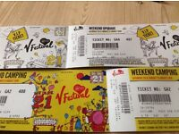 1 x V Festival Weston Park Staffordshire VIP Weekend Camping tickets