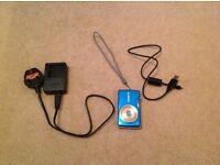 Blue lumix digital camera