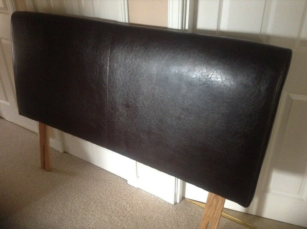 Faux leather king size headboard