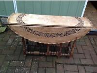 Oriental Wooden Occasional Gateleg Table