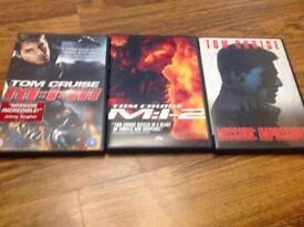 3 Mission Impossible DVDs