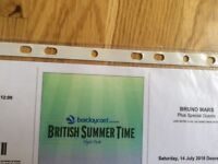 Bruno Mars x3 tickets for BST Hyde Park London sat 14 July