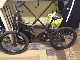Kids bmx black bike