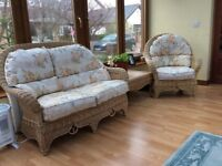 Wicker furniture set, 6 piece set, all great condition. £300 or nearest offer.