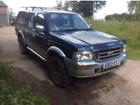 2003 Ford Ranger double cab pick up truck. SPARES OR REPAIR