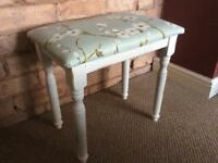 Shabby chic style bedroom/dressing table stool