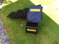 Milenco four step levelling ramps for caravan/motorhome with Carry bag