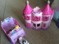 ELC happy land castle & fisher price horse and carriage