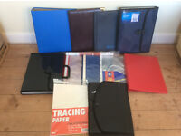 Job Lot of Folders, Stationary, Plastic Pockets, Ring Binders etc, 16 items