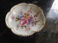 Royal Crown Derby, Derby Posies cream jug, sugar bowl & butter/trinket dish