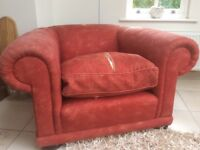 Sofa workshop armchair as reupholstery project