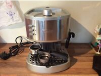 DeLonghi EC330 coffee machine, fully working and in excellent condition as hardly used