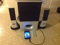Altec Lansing Stereo Speaker Surround System Suitable for TV/IPad/IPod/PC/Etc.