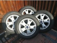 Ford Connect Genuine Alloy Wheels & Goodyear Tyres. (4) Excellent Condition