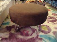 Habitat brown suede look fabric foot stool