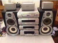 Technics DV280 sound system, with dolby pro logic surround sound.