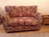 Lounge suite - 5 pieces. 2 seater sofa + 2 chairs + 2 storage footstools