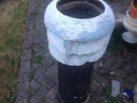 Painted terracotta chimney pot