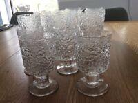 Whitefriars Glacier crystal glasses 1977.