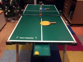 Junior Table tennis table , free standing or for table top use. Net, balls and bats included