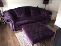 Large 3 seater DFS sofa & footstool - Move abroad forces sale
