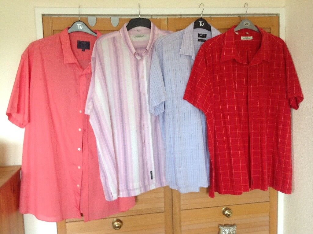 Plus Size Men\'s Shirts x 4 Ben Sherman,Thomas Nash,Atlantic Bay   in ...
