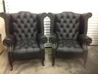 Chesterfield leather chairs