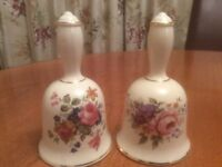 Vintage China Bells. Pretty Floral Design by Sadler. Perfect Condition