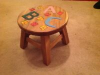 Children's ABC stool