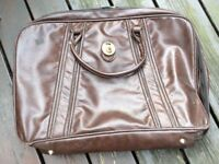 ***100% GENUINE LEATHER VINTAGE SUITCASE - JAMES BOND STYLE - BROWN***