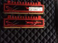 4GB G.Skill DDR3 PC3-10666 1333MHz Ripjaw Series (9-9-9-24) Dual kit