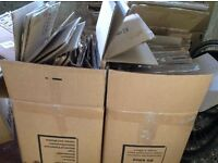 Approximately 50 Strong packing boxes - £20