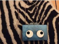 Quirky design square box clutch with eyes