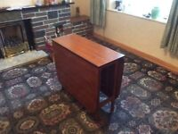 Vintage teak folding dining table and four chairs