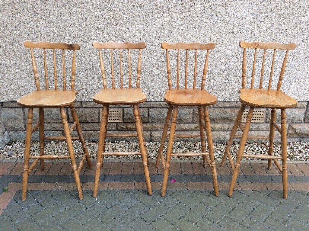 Enjoyable 4 Kitchen Bar Stools In Buckie Moray Gumtree Machost Co Dining Chair Design Ideas Machostcouk