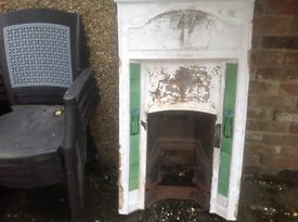 100 year old fireplace surround with original tiles intact