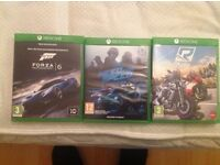 FORZA MOTORSPORT 6,NEED FOR SPEED AND RIDE xbox one