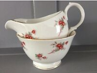 Richmond 'Rose Time' Bone China Milk Jug and Sugar Bowl.