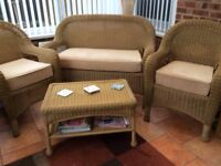 Wicker Conservatory/patio furniture 4 piece set