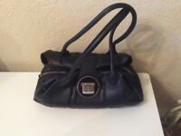 Jasper Conran Black Leather Handbag