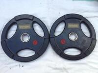 10 x 15kg Base Tri-Grip Rubber Olympic Weights
