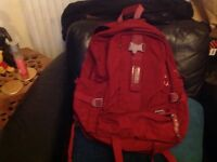 Red back pack reduced to £2.50