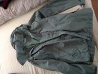 Ladies waterproof jacket mint color.