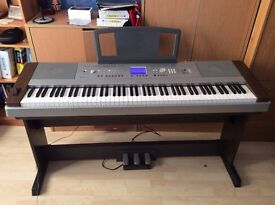 Yamaha DGX 640 Walnut Digital Piano With 3 extra pedals Working Perfectly