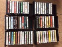 Vintage cassettes and case
