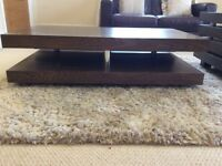 Coffee table and shelving
