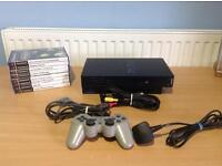 PLAYSTATION 2 BUNDLE 1 CONTROLLER AND 8 GAMES